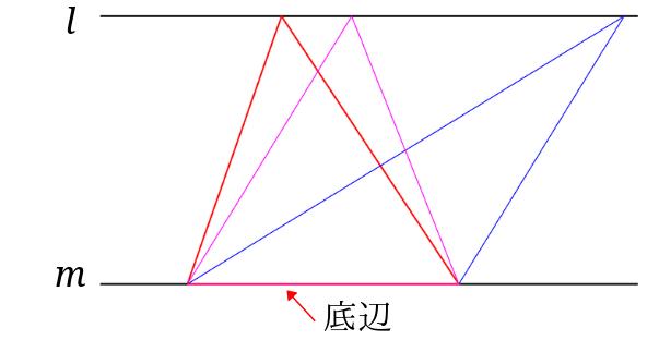 三角形の等積変形