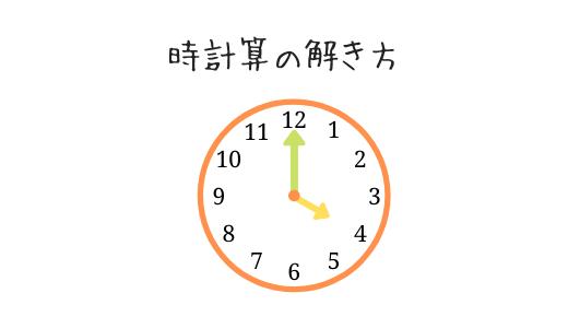 時計算の解き方や教え方を解説!長針と短針が1分間に動く速さがポイント!